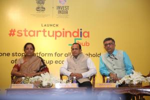 Commerce and Industry Minister Nirmala Sitharaman launches the Startup India Virtual Hub