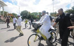 India's first public bicycle haring project launched in Mysuru