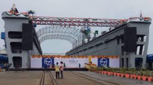 L&T launches Yard 55000 (Floating Dock- FDN 2) for Indian Navy