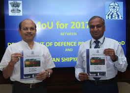 MoU Signed Between Department of Defence Production and GSL, HSL, GRSE, BDL