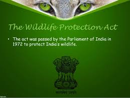 21st August 1972: Wildlife Protection Act is passed