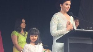 Aishwarya becomes the first woman to raise Indian flag at IFFM 2017