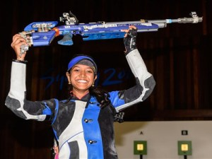 Shooter Valarivan wins gold at junior World CupShooter Valarivan wins gold at junior World Cup
