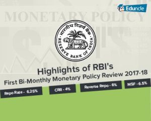 1st Bi-monthly Monetary Policy Statement Released by RBI