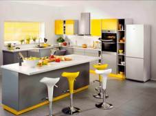 Kitchen set minimalis modern terang