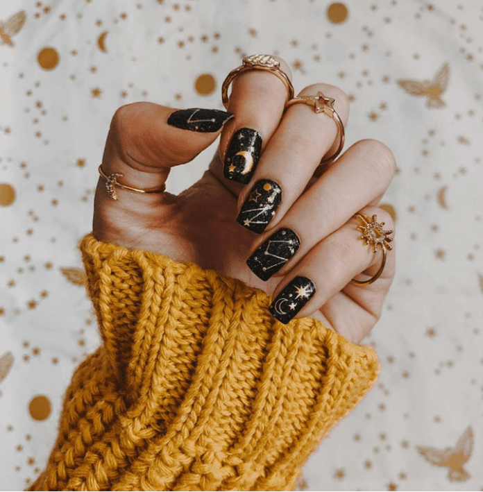 Starry nails design ideas