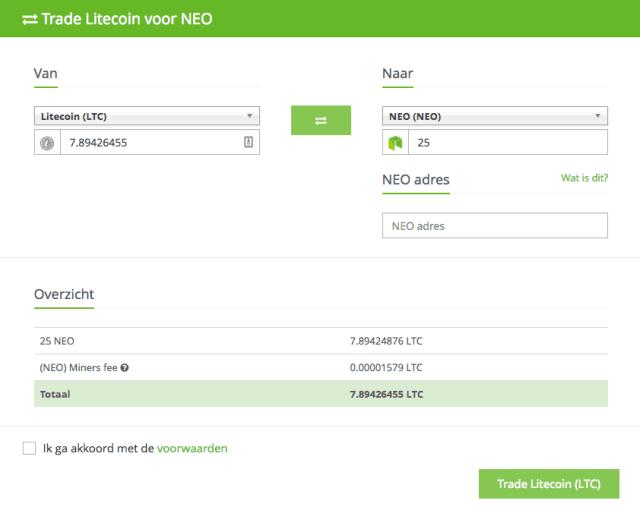 Anycoin Direct litecoin neo