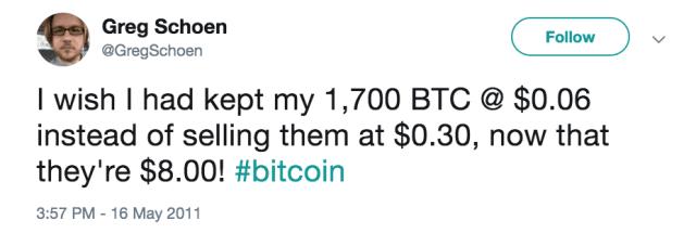 Balen vanwege de verkoop van Bitcoin
