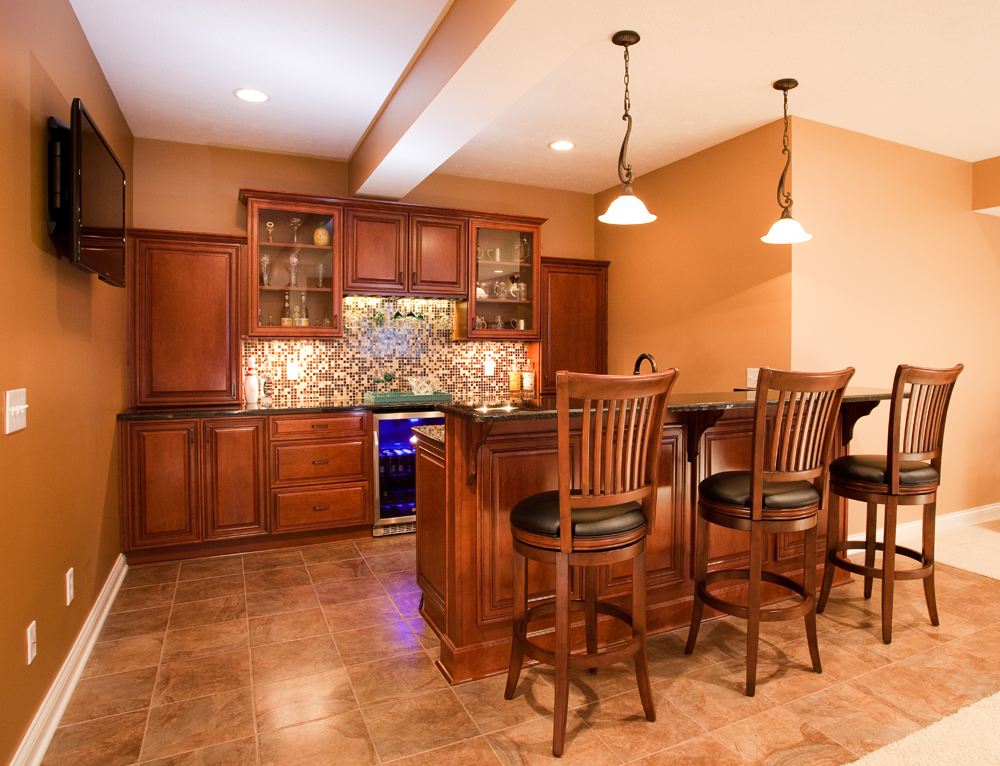 Adding Basement Wet Bar - Current in Carmel on Small Wet Bar In Basement  id=54561