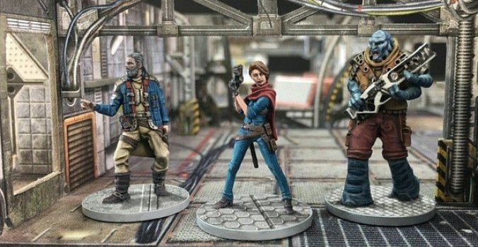 core space crew alien rogue pirate mini miniatures painted stargrave