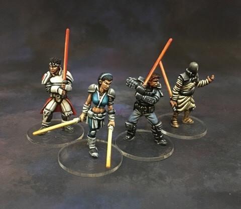 stargrave star wars jedi light saber minis miniatures