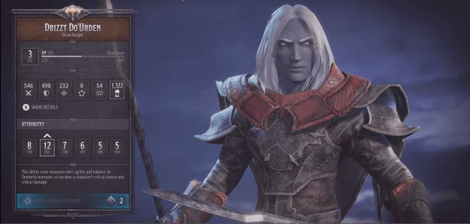 drizzt dark alliance character build d&d