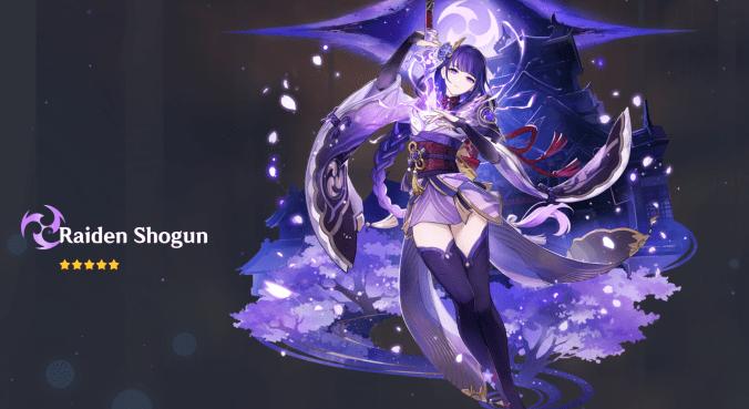 raiden shogun genshin impact 2.1 update new 5 star character gacha wish come home