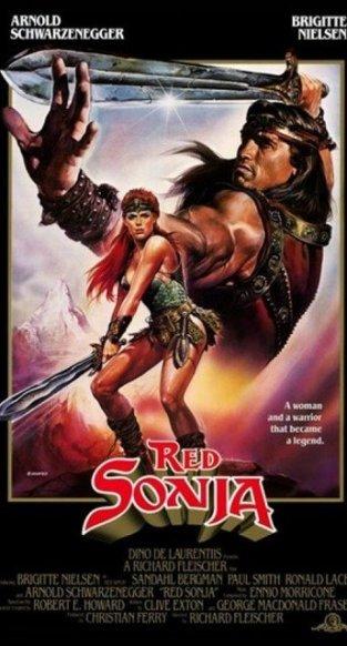 red sonja movie poster conan movie conan movies review reviews video essay arnold schwarzenegger