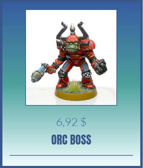 knightmare games orc boss painted mini miniatures ork
