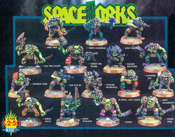 space orks rogue trader rt02 painted metal vintage minis miniatures games workshop citadel orktober orc orcs squady squotter