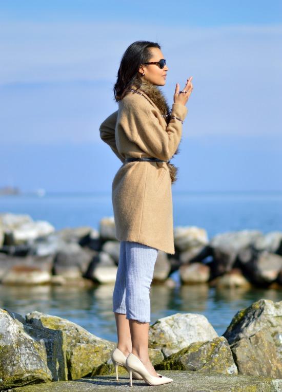 Fur Collar Coat Swiss Fashion Blog