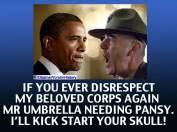 Obama—pot smoking, socialist, Muslim pansy ass.