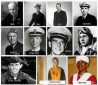 Presidents in their uniforms. Notice the lower right president.