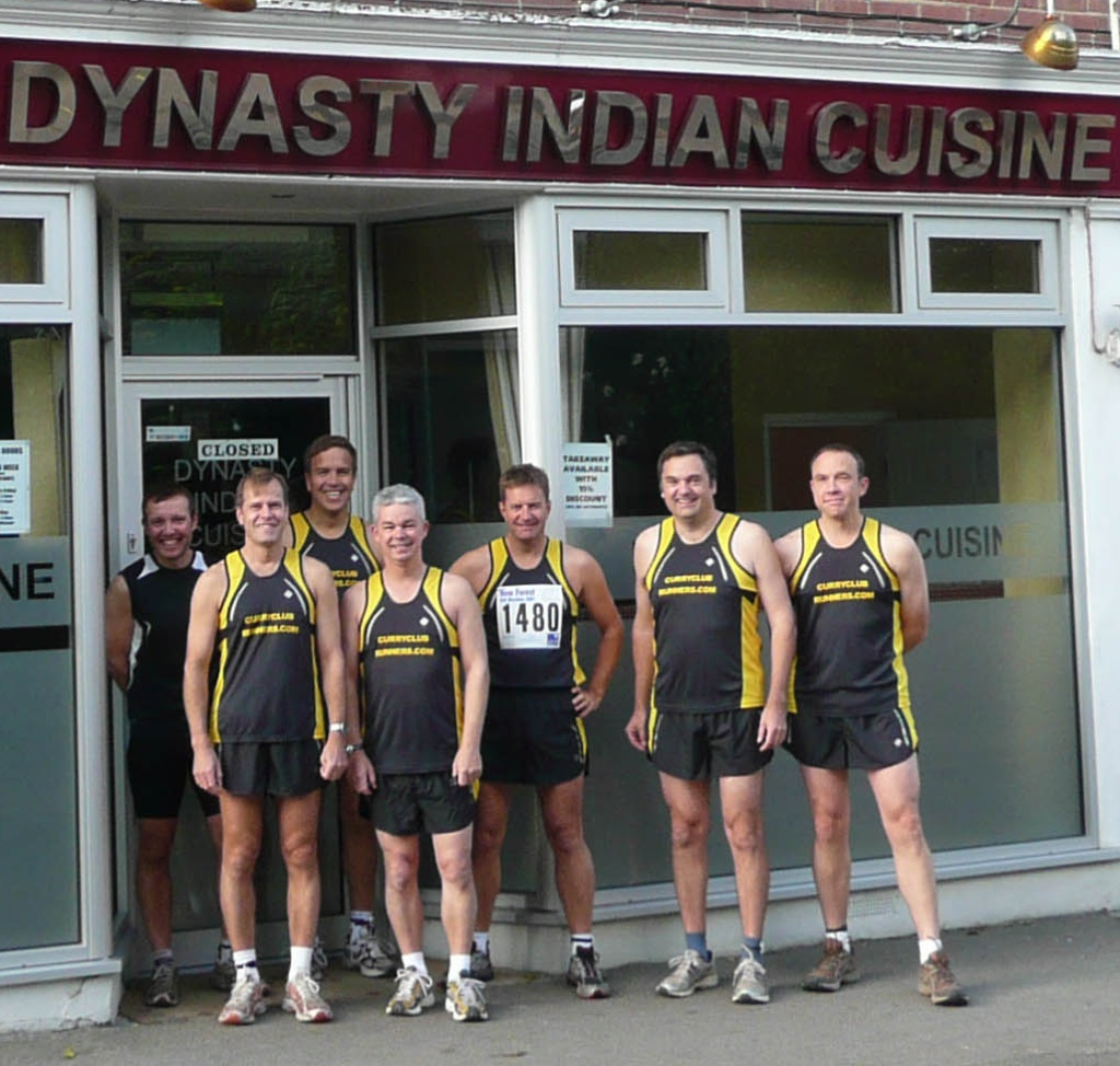 The Curry Club runners at the Dynasty Restaurant Brockenhurst