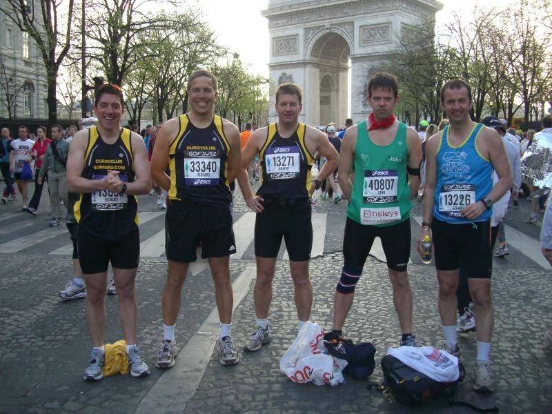 Curry Club runners in Paris
