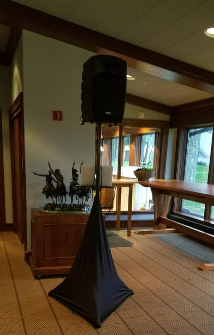 Wireless Set up for Cocktail and Ceremony