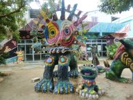 Yonekoyaki Craft Center, 米子焼工房, Shisa-Werkstatt, clay figure, Tonfigur, shisa, シーサー, Ishigaki, 石垣島, tropical island, Okinawa, 沖縄県, Japan