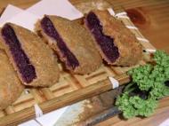 beniimo, 紅いも, Okinawan sweet potato croquette, purple sweet potato croquette, okinawanische Süßkartoffelkrokette, violette Süßkartoffel Krokette, Ishigaki, 石垣島, 琉球, Okinawa, 沖縄県, Japan