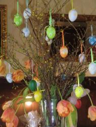 Oster-Dekoration, Easter decoration, Cafe Sarotti-Höfe, Cafe Sarotti Courts, Sarotti-Mohr, Sarotti Moor, Mehringdamm, Berlin, ベルリーン, ドイツ, Germany, Deutschland