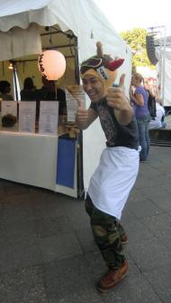 Karneval der Kulturen, Carnival of Cultures, Straßenfest, street festival, Germany, Berlin, ベルリン, Deutschland, ドイツ, Japanese street food, Takoyaki mascot