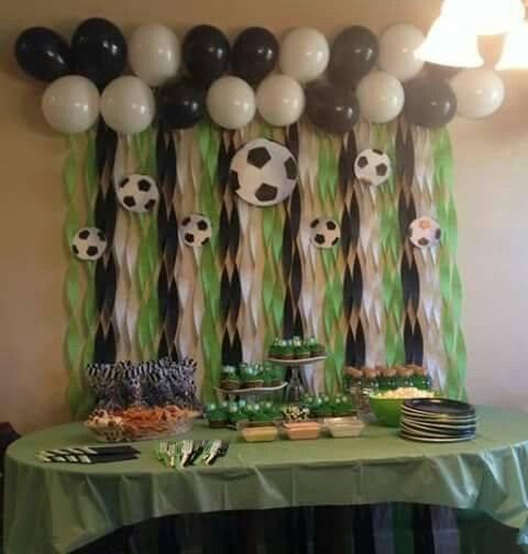 Fiesta Infantil Con Tema De Futbol 17 Curso De