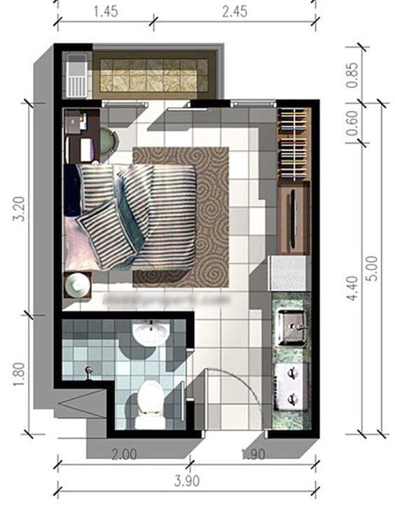 Casas de una recamara | Diseños, planos, fachadas y más.