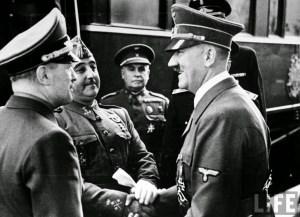 Encuentro de Franco y Hitler en Hendaya en 1940