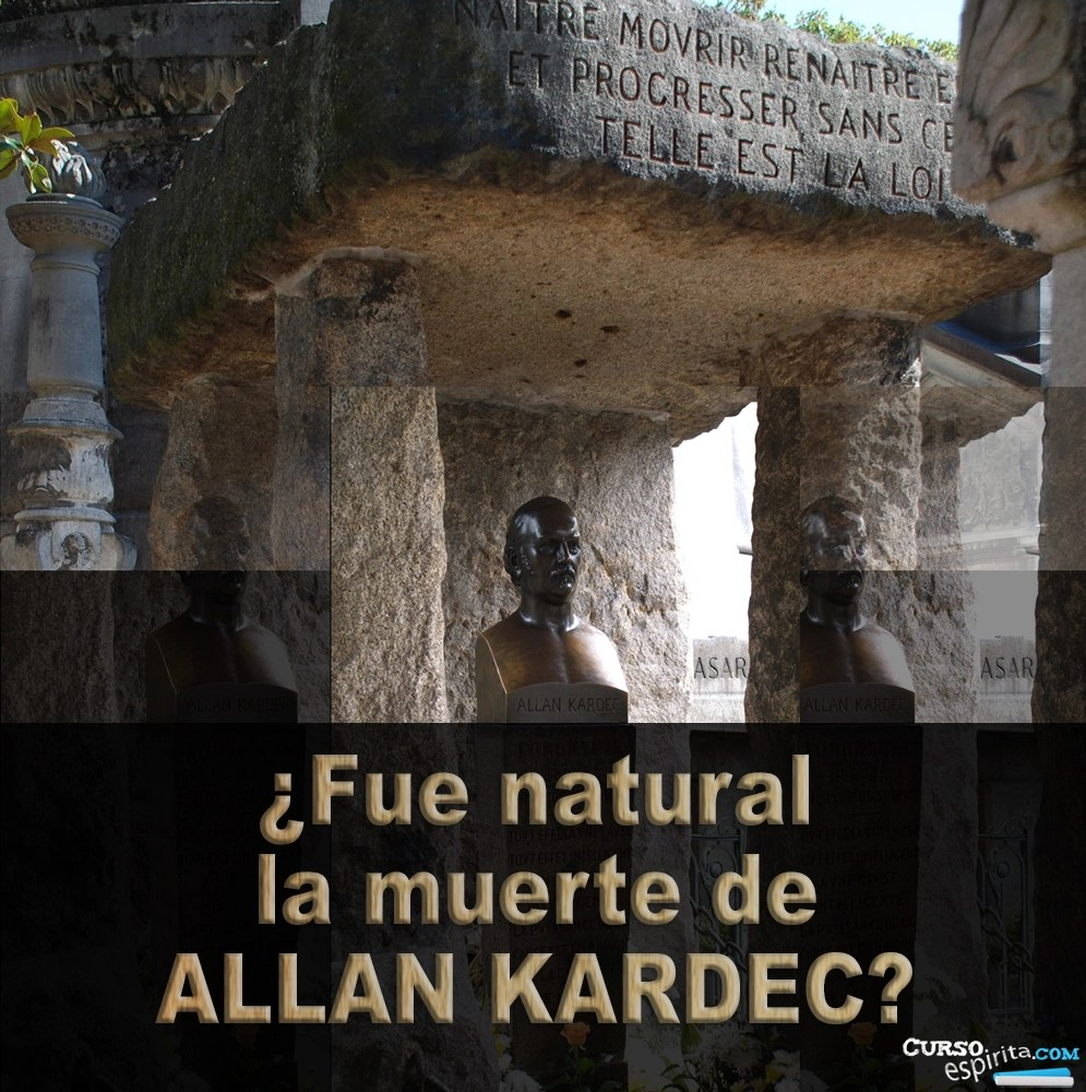 Imagen fue natural la muerte de Allan Kardec