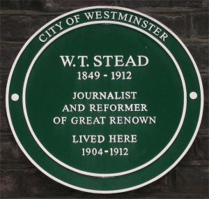 Placa en homenaje a Stead