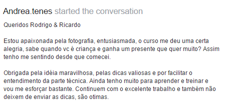 Resultado de imagem para depoimentos do curso cara da foto do Rodrigo e ricardo polesso