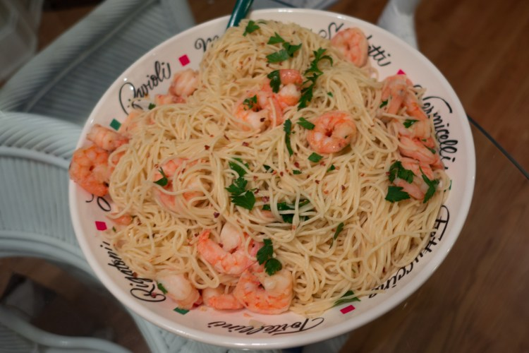 Shrimp Scampi for Feast of 7 Fishes