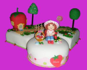 Decoración de Fresita para Torta o Pastel - Rosa Quintero