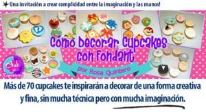 Ilustración Curso Como Decorar Cupcakes con Fondant por Rosa Quintero