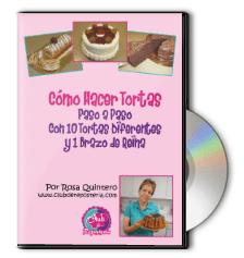 Curso Como Hacer Tortas en DVD por Rosa Quintero