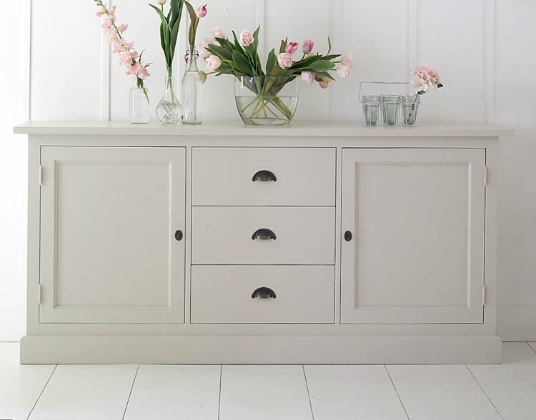 Muebles envejecidos en blanco stunning mueble tv woody - Muebles envejecidos ...