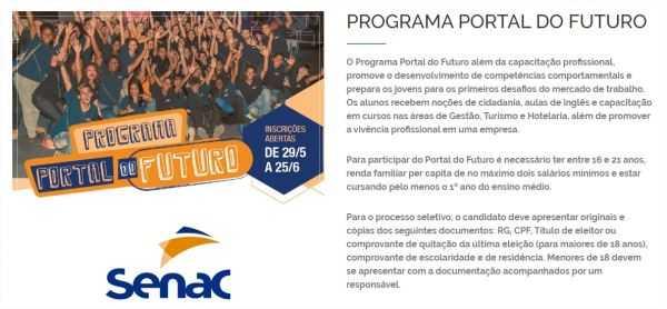Programa Portal do Futuro Senac RJ 2017 2