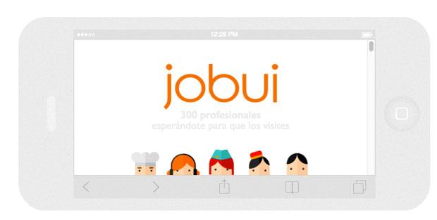 Jobui está disponible para diferentes formatos de pantalla