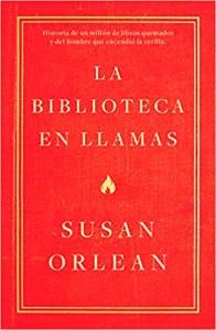 Portada de la biblioteca en llamas, el libro recomendado para leer en junio de 2019
