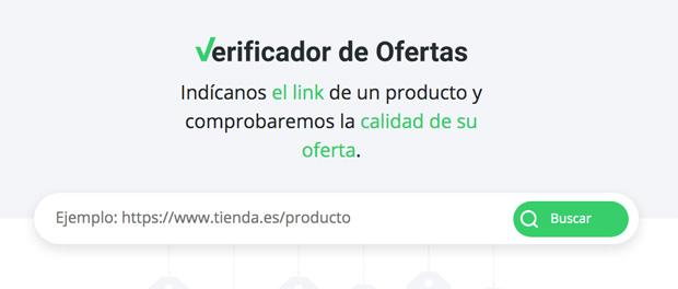 verificador de ofertas para saber el historial de los precios de un producto