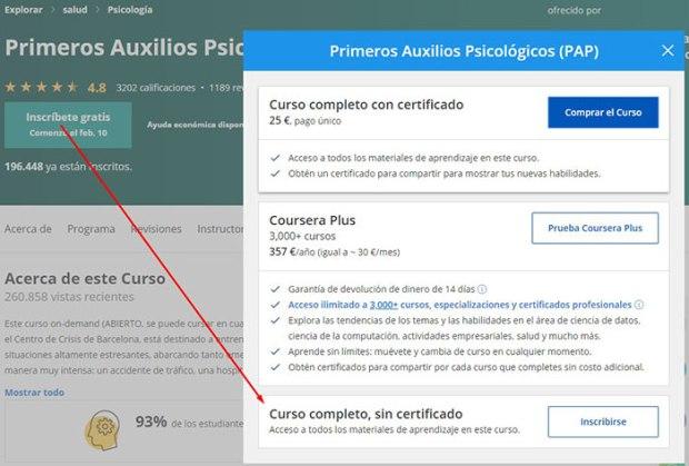 auditar curso de Coursera gratis