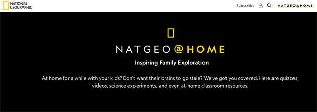 Portal educativo National Geographic