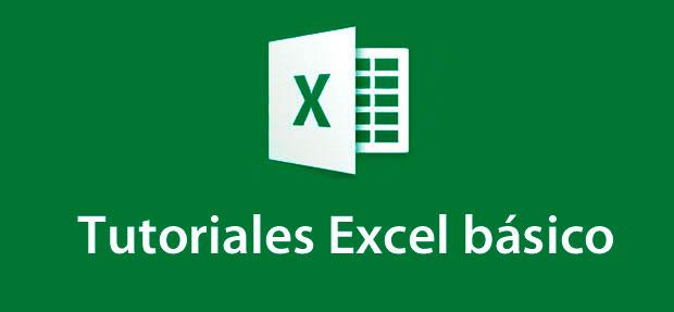 tutoriales Excel básico