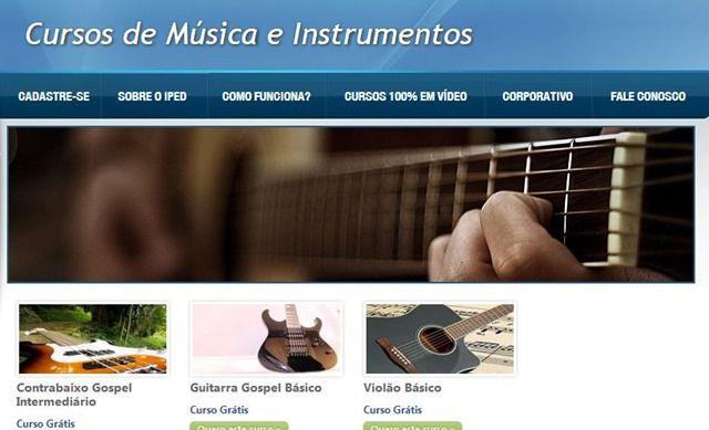 cursos gratuitos com certificado de música e instrumentos