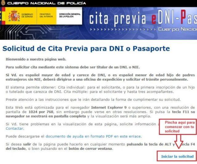 Cita previa para renovar pasaporte en Andalucía